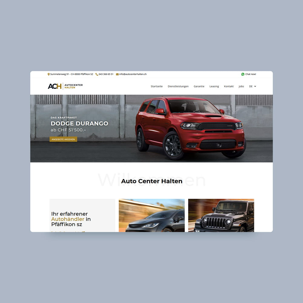 autocenter halten responsive design | AJMS Marketing Agentur
