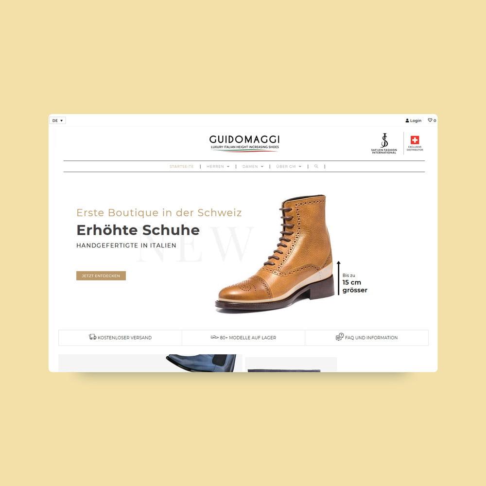 guidomaggi schweiz responsive design ecommerce | AJMS Marketing Agentur