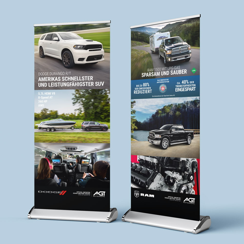 Roll-up design | AJMS Marketing