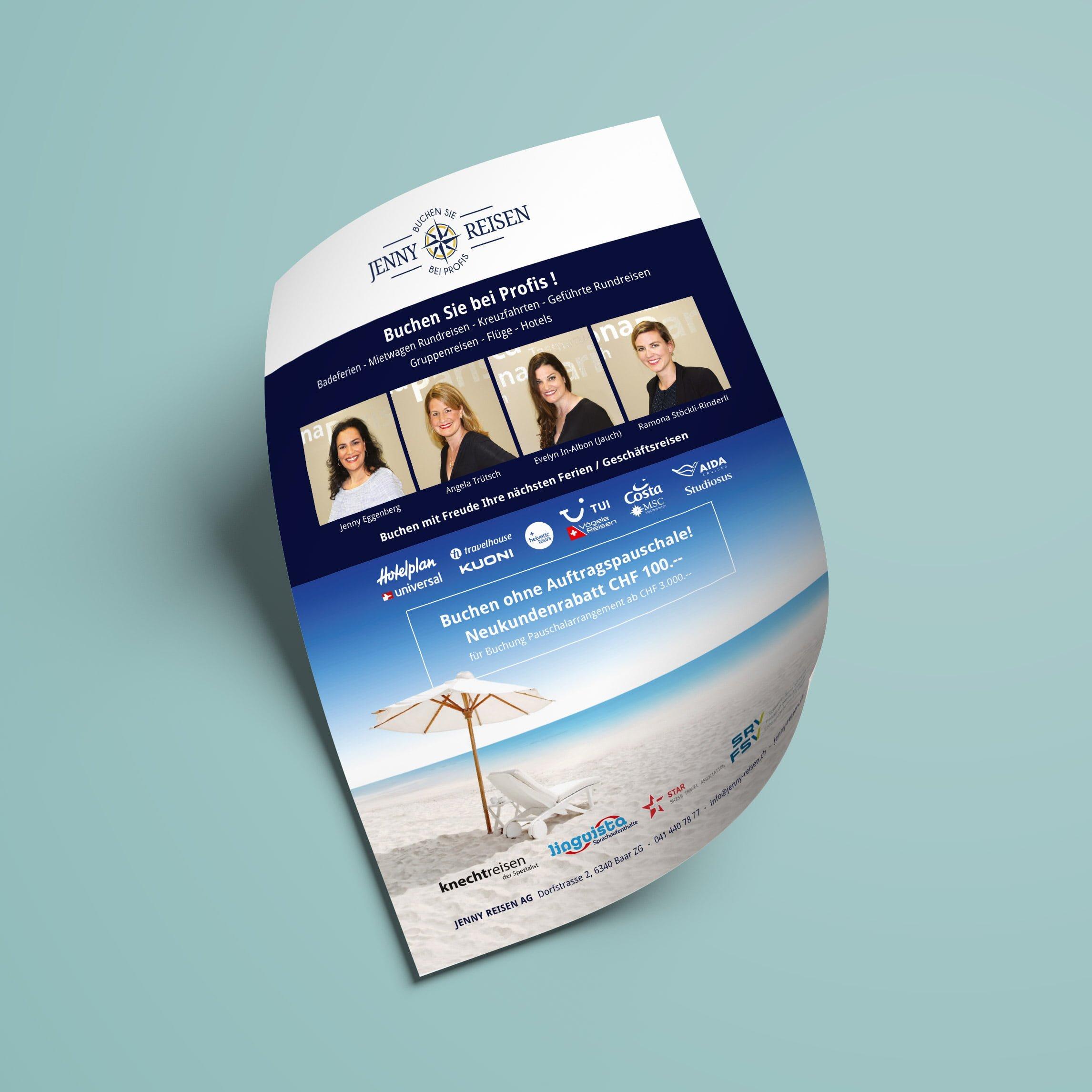 jenny reisen flyer | AJMS Marketing Agentur