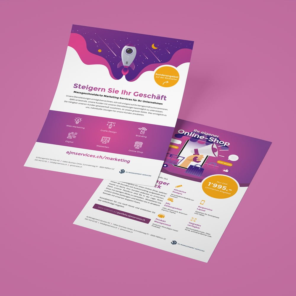 werbung flyer agentur | AJMS Marketing