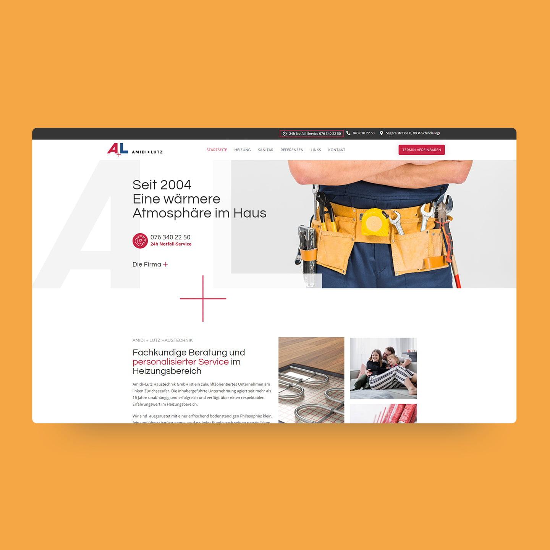 AJ Management Services AG website creation für Amidi Lutz