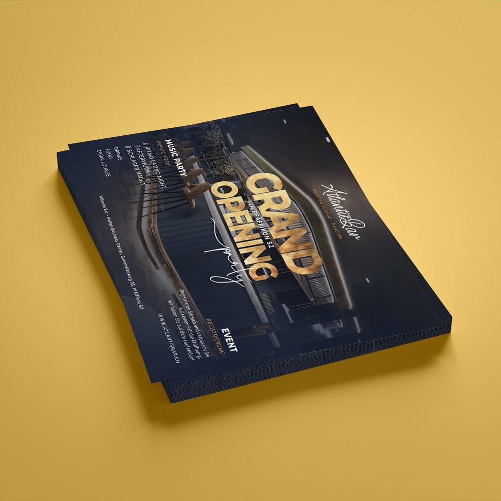 premium flyer design | AJMS Marketing Agentur