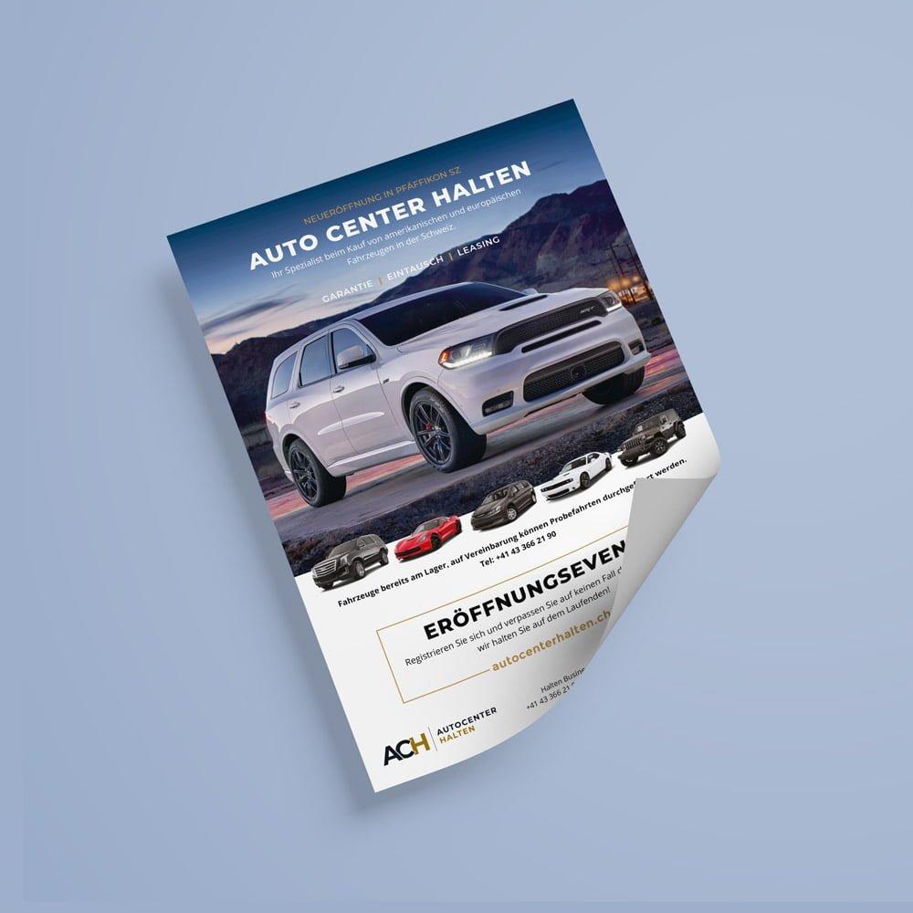 flyer grafik design autocenter halten dodge durango | AJMS Marketing