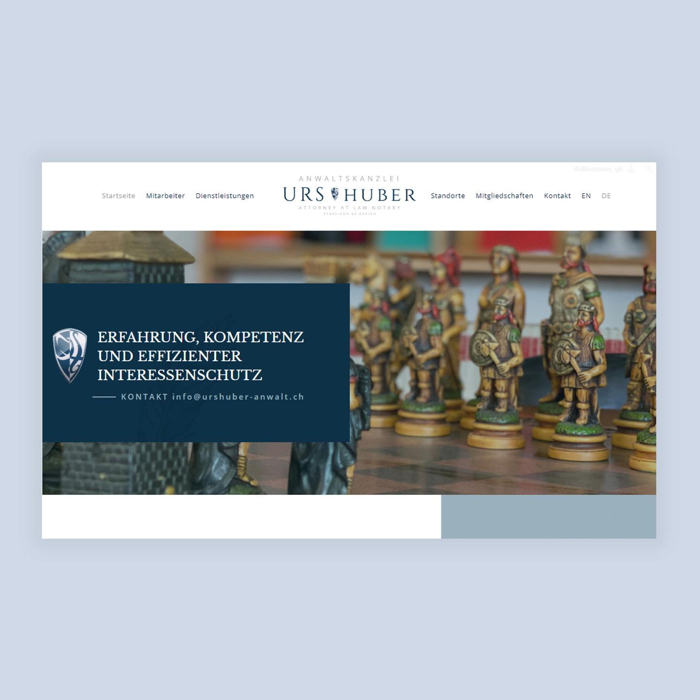 Urs Huber web design | AJMS Marketing