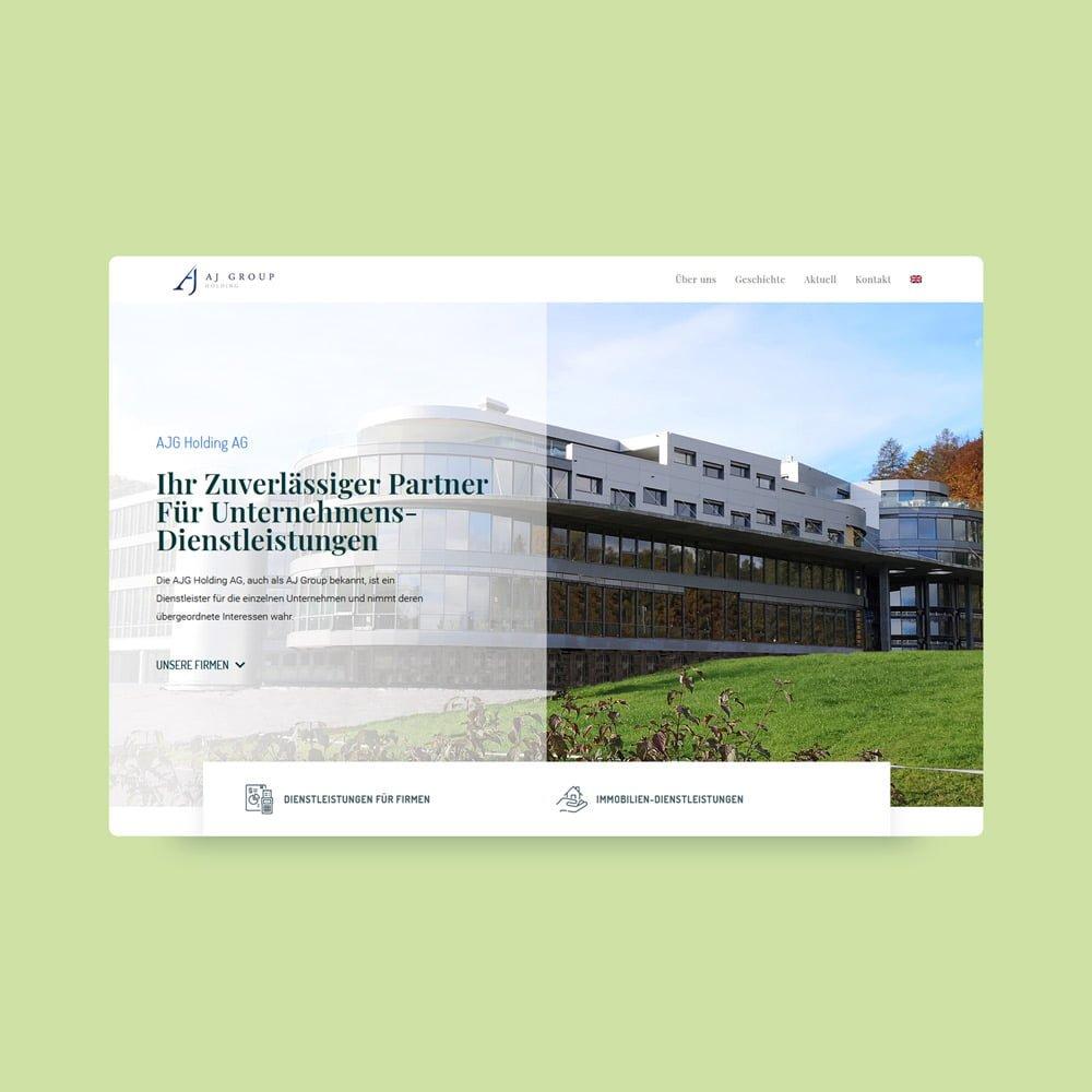 AJG Holding AG - new website design | AJMS Marketing Agentur
