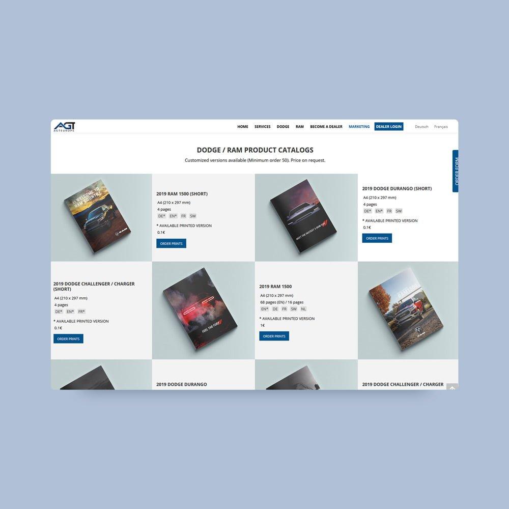 AGT Europe webdesign | AJMS Marketing Agentur