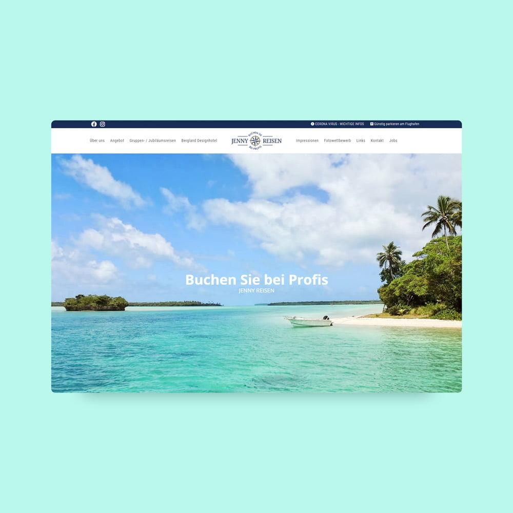 Jenny Reisen Website renovierung responsive design